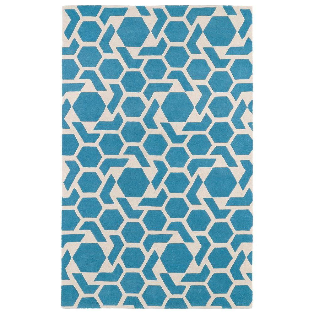 Revolution Blue 8 ft. x 11 ft. Area Rug