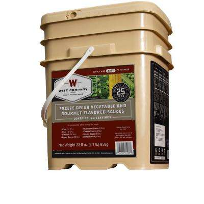 120 Serving Freeze Dried Vegetables and Sauce Bucket