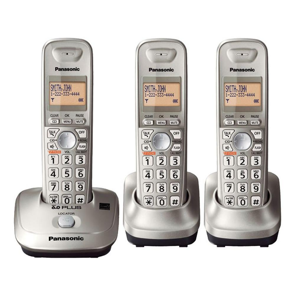 Panasonic Dect6.0+, Cordless Phone with 3 Handsets, Caller-ID and Handset Speakerphone-DISCONTINUED
