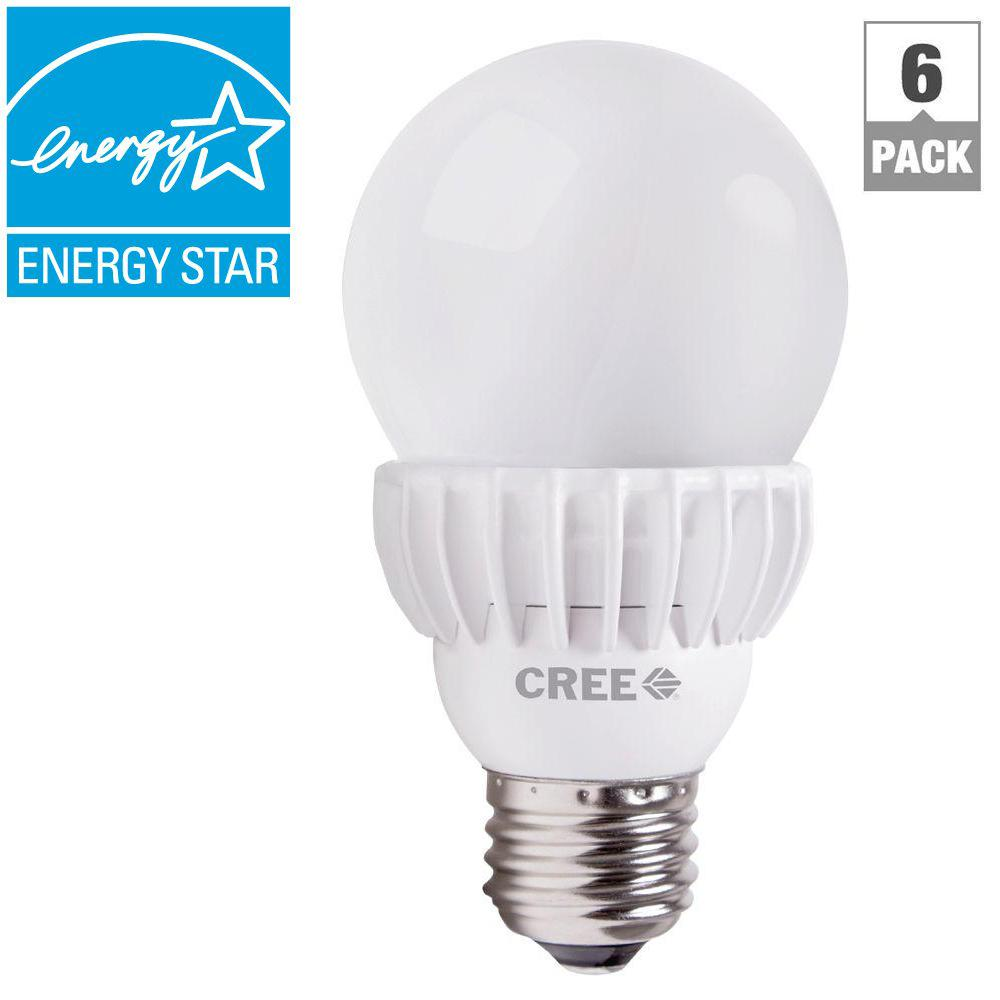Cree 75W Equivalent Daylight (5000K) A19 Dimmable LED Light Bulbs (6-Pack)