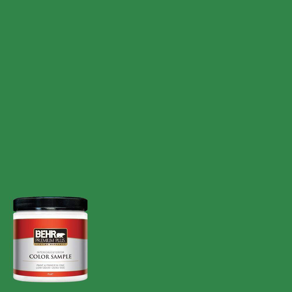 450b 7 Green Gr Flat Interior Exterior Paint And Primer In One Sample