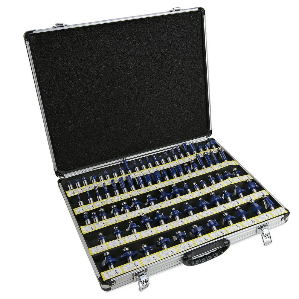 Tungsten Carbide Multi-Purpose Router Bit Set (80-Piece)