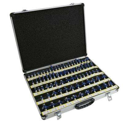 Tungsten Carbide Multi-Purpose Router Bit Set (80-Piece)