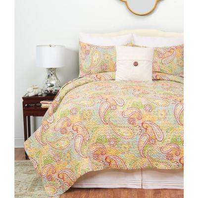 Kaylee White Twin Quilt Set