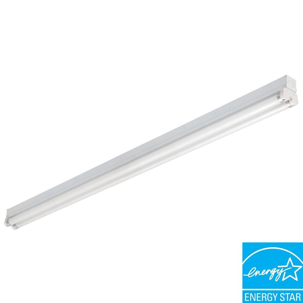 Lithonia Lighting MNS8 2 32 120 RE M6 2-Light White Fluorescent Lighting Strip