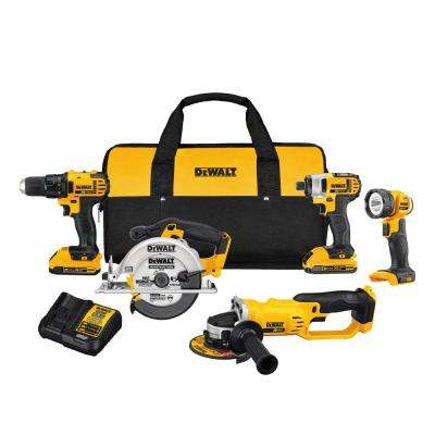 20-Volt Max Lithium-Ion Cordless Combo Kit (5-Tool) w/ (2) Batteries 2Ah, Charger & Tool Bag