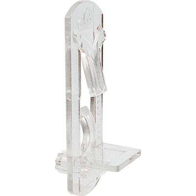 5 mm. Clear Self-Locking Shelf Support Peg for 3/4 in. Shelf (4-Pack)