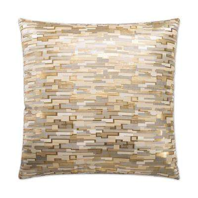 Maize Feather Down 24 in. x 24 in. Standard Decorative Throw Pillow
