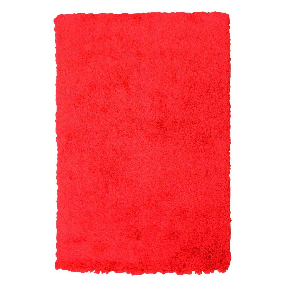 DonnieAnn Express Shag Hand Tufted Red 4 ft. 11 in. x 6 ft. 10 in. Indoor Area Rug