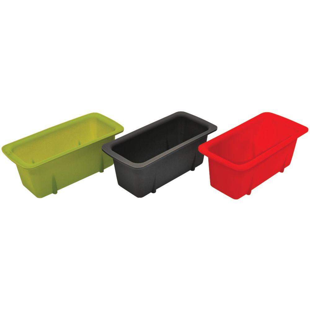 Silicone Mini Loaf Pans (Set of 3) Starfrit brings you this set of 3 Silicone Mini Loaf Pans for your bread-baking needs. The pans are reusable. A recipe for banana bread is included.