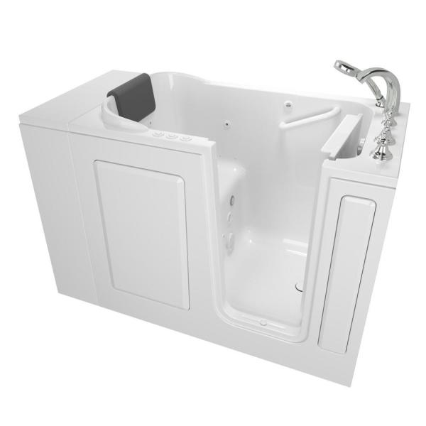 Gelcoat Premium Series 48 in. Right Hand Walk-In Whirlpool and Air Bathtub in White