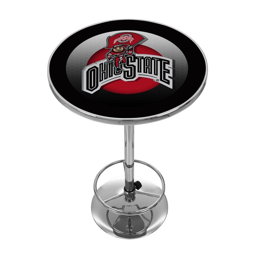 Ohio State Rushing Brutus Chrome Pub/Bar Table