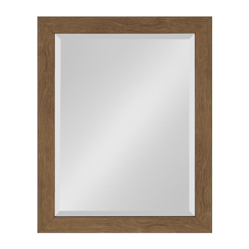 Scoop Rectangle Brown Mirror
