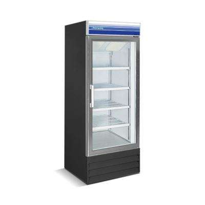 27 in. 13 cu. ft. Commercial Merchandiser Upright Freezer in Black