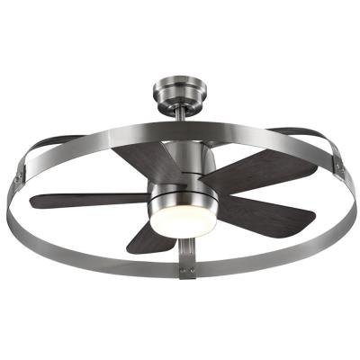 Harrington 36 in. White Color Changing Integrated LED Brushed Nickel Indoor/Outdoor Ceiling Fan with Remote Control