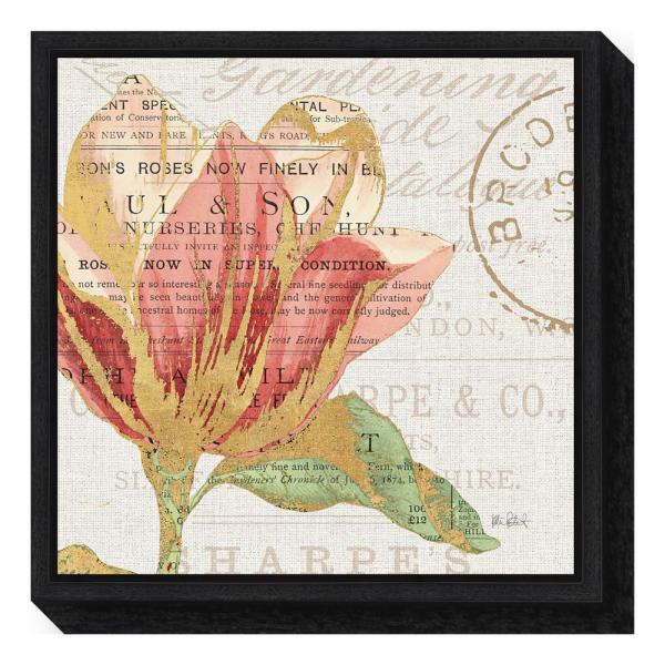 Amanti Art ''Bookshelf Botanical III'' by Katie Pertiet Framed Canvas Wall