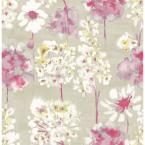 Thomas, Marilla Pink Watercolor Floral Wallpaper