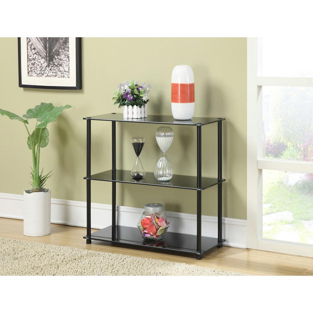 Designs2Go Black 3-Shelf Bookcase