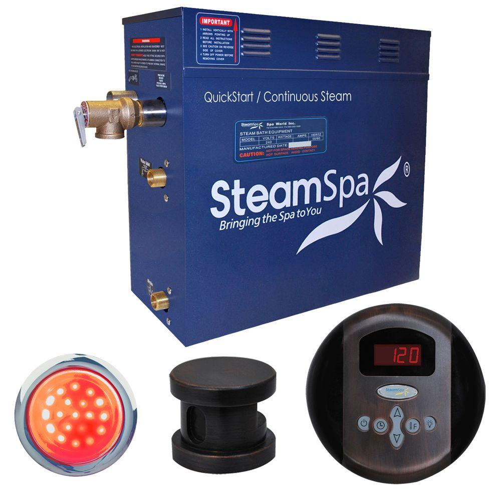 SteamSpa Indulgence 7.5kW Steam Bath Generator Package in Oil Rubbed Bronze
