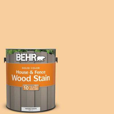 1 gal. #300C-3 Bagel Solid Color House and Fence Exterior Wood Stain