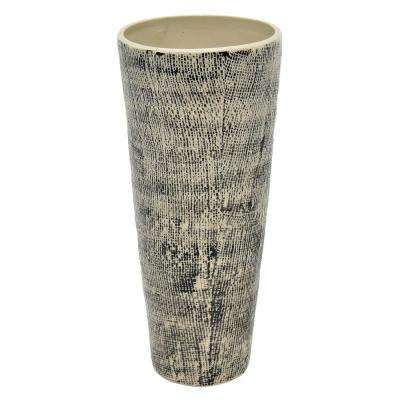 14 in. Porcelain-Ceramic Ceramic Vase Finished in Multi-Colored