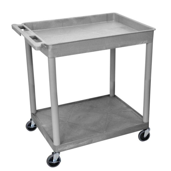 TC 32 in. 2-Shelf Utility Cart in Gray