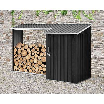 5.2 ft. x 8.8 ft. x 5.3 ft. 2-in-1 Galvanized Steel Multi-Use Shed