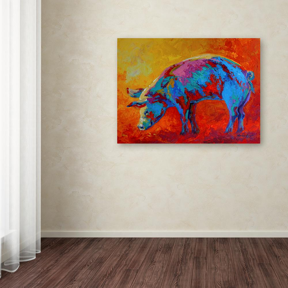 "18 in. x 24 in. ""Pig I"" by Marion Rose Printed"