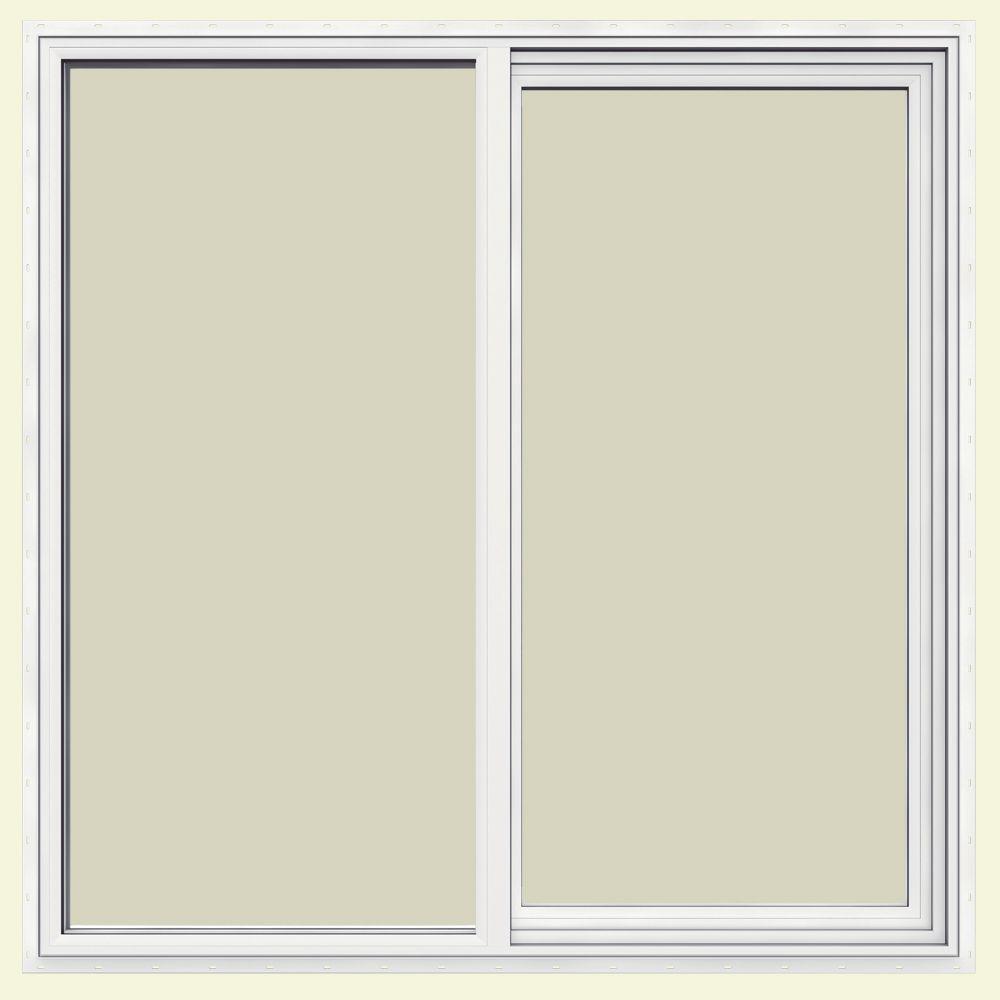 47.5 in. x 47.5 in. V-1500 Series Left-Hand Sliding Vinyl Window