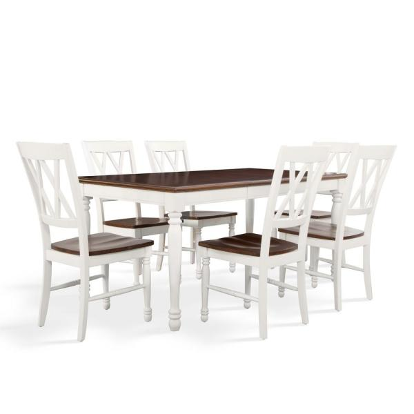 Crosley Furniture Shelby 7 Piece White Dining Set Kf20001 Wh The Home Depot