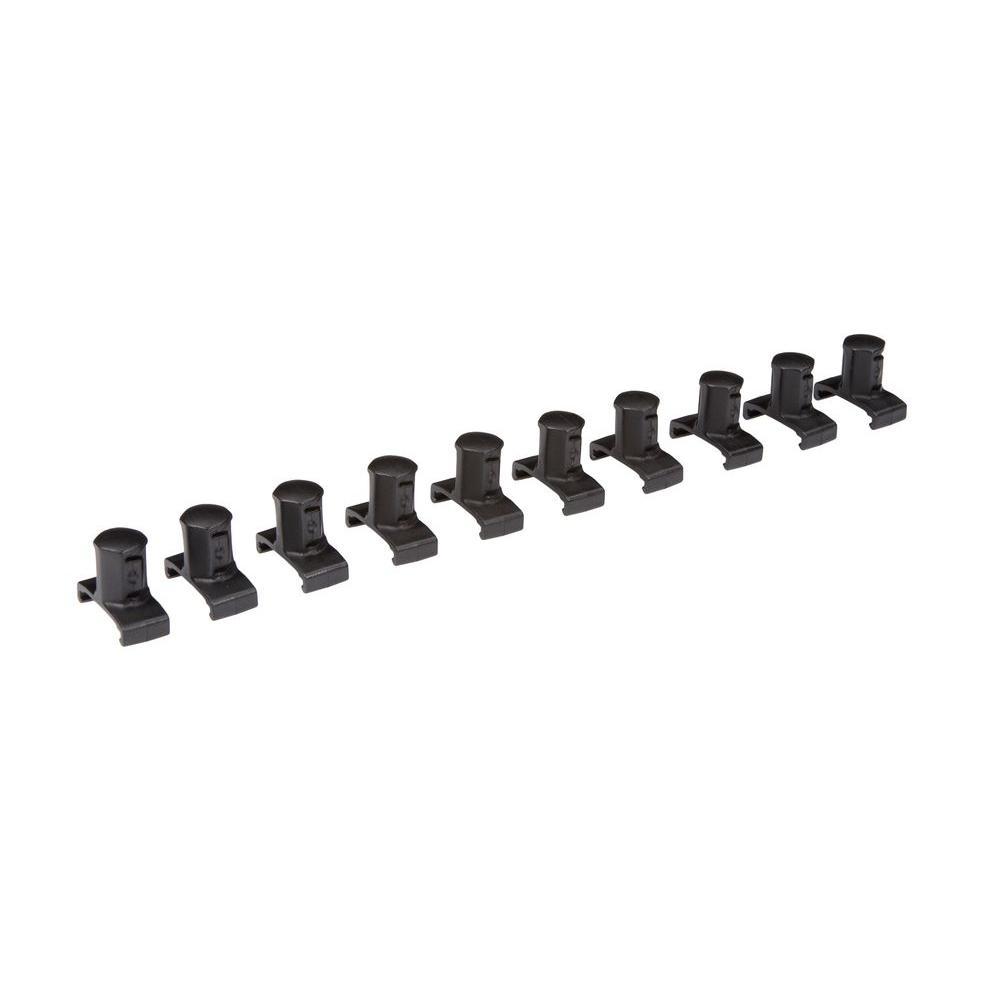1/2 in. Drive Twist Lock Socket Clip Set (10-Piece)