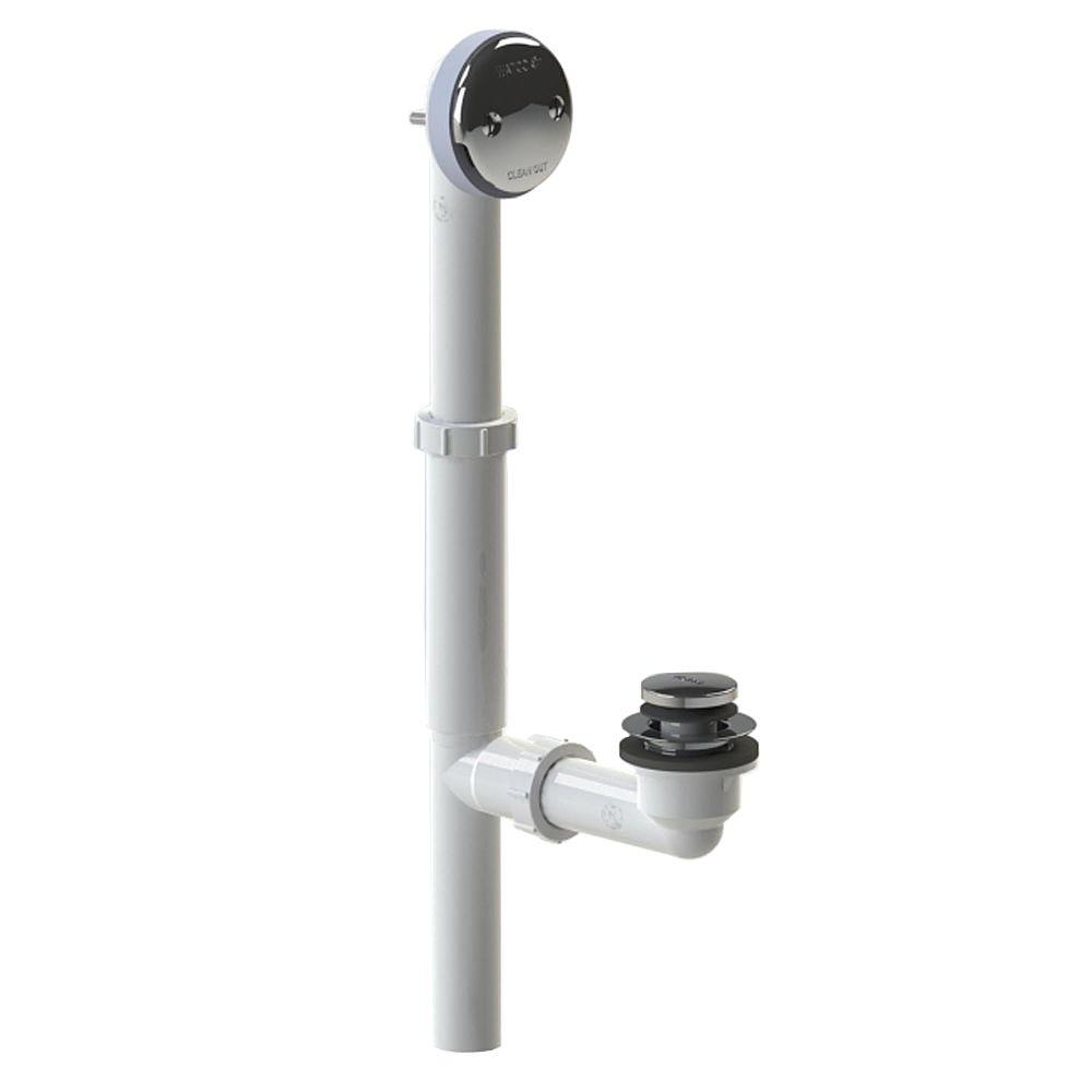 500 Series 16 in. Tubular Plastic Bath Waste - Foot Actuated