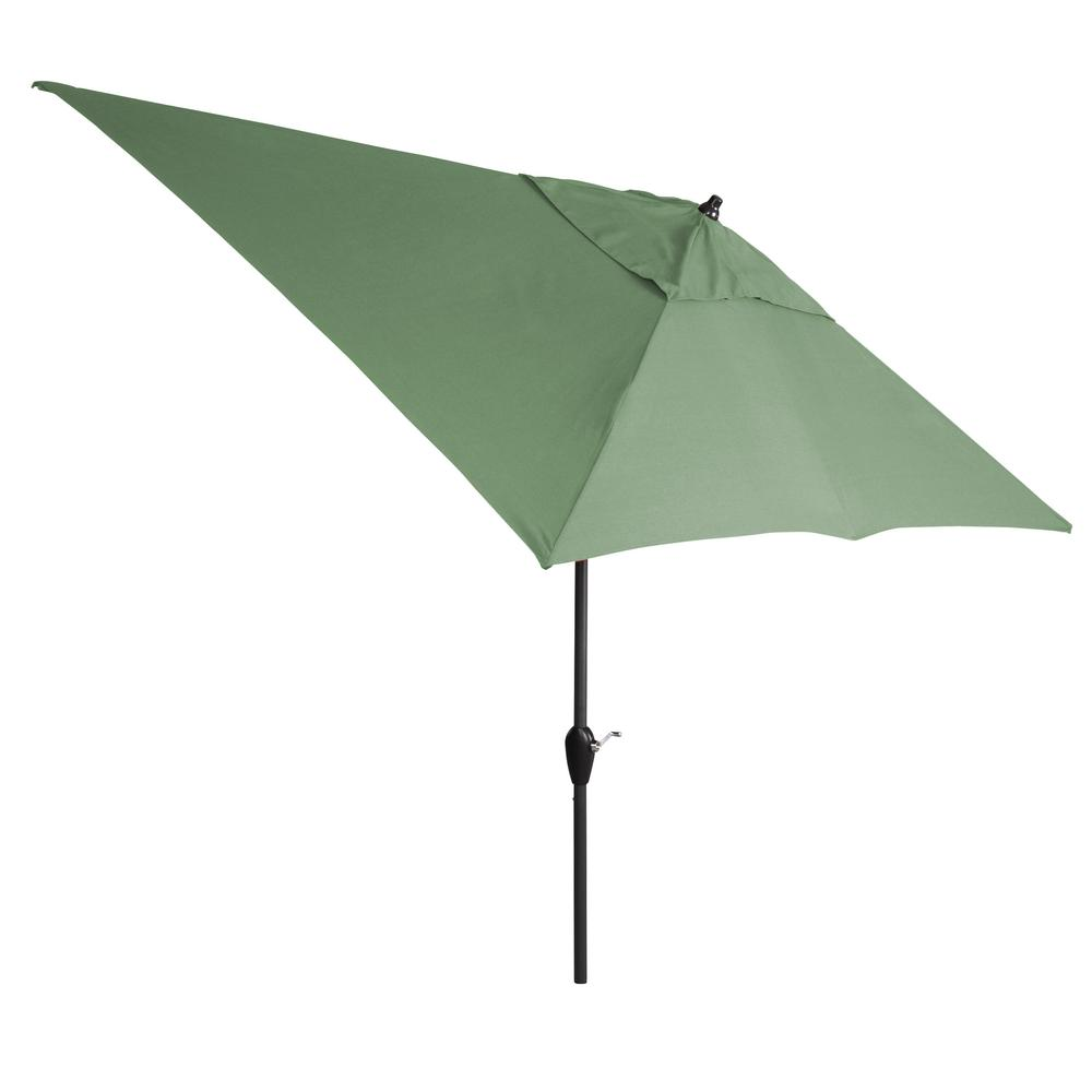 10 ft. Aluminum Tilt Patio Umbrella in CushionGuard Surplus