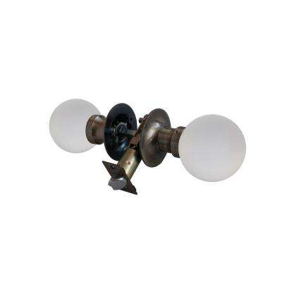 Moon Crystal Antique Brass Passive Door Knob with LED Mixing Lighting Touch Activated