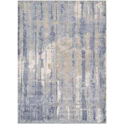 Sagano Hidden Forest Pearl-Slate 6 ft. x 8 ft. Area Rug