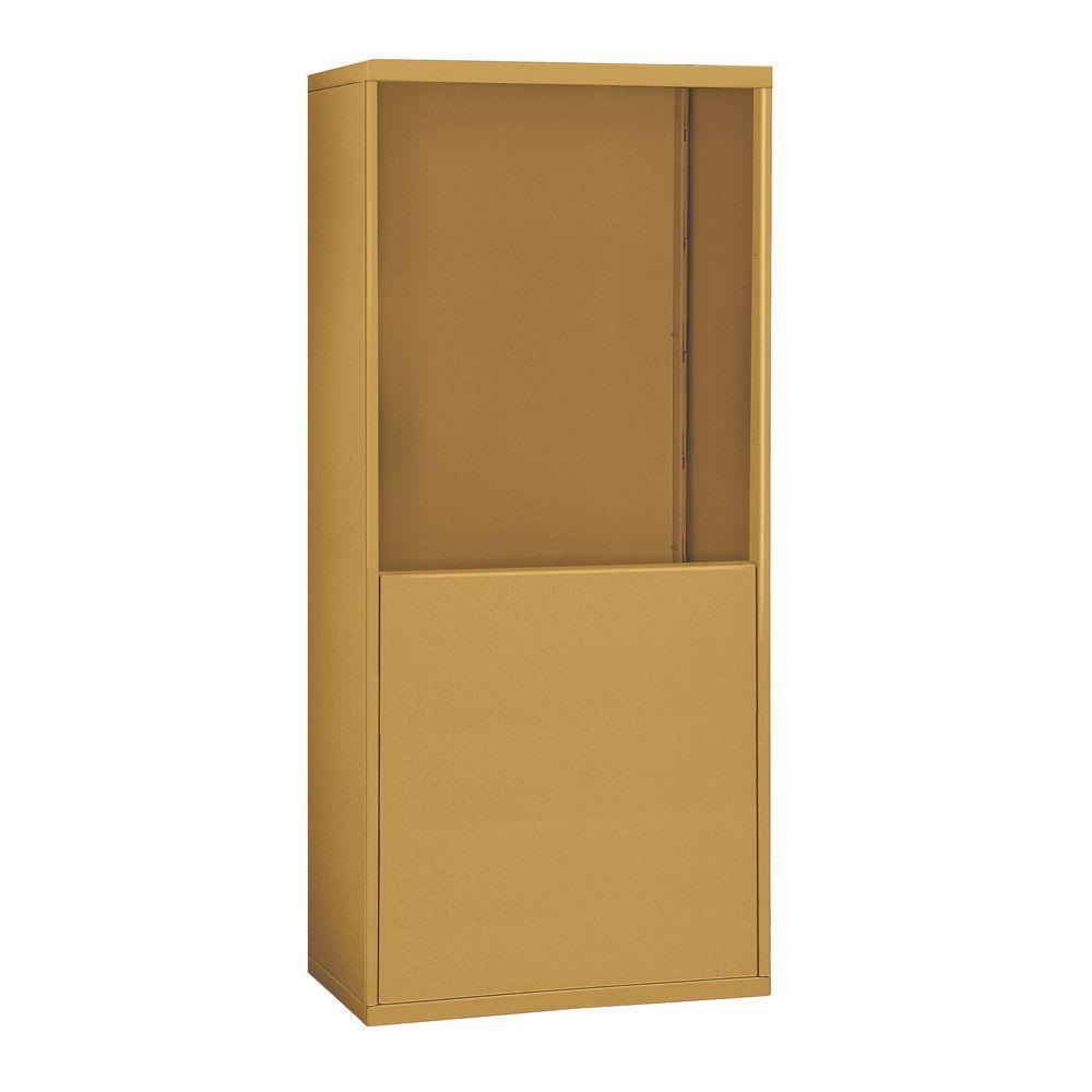 19900 Series 37 in. W x 61 in. H x 9.25 in. D for 19068-30 R-Mounted Cell Phone Enclosure in Gold