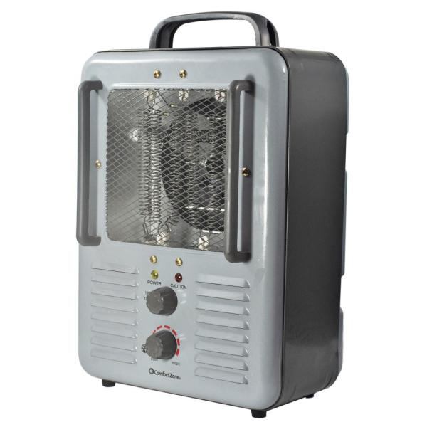 5120 BTU 1500-Watt Milkhouse Style Fan Electric Portable Heater in Gray