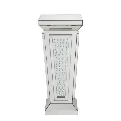 Nysa Mirrored and Faux Crystals Pedestal Stand
