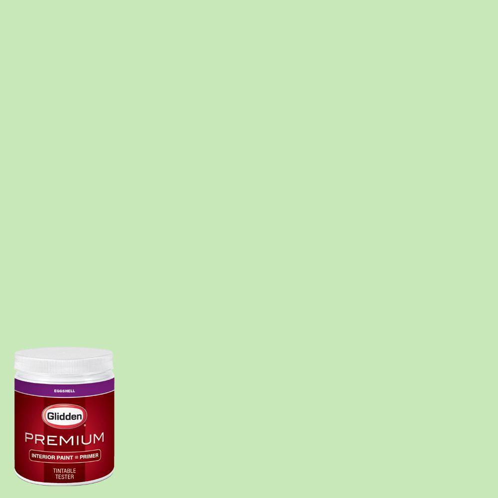 Glidden Premium 8 Oz Hdgg41u Fresh Arboretum Green Eggshell Interior Paint With Primer Tester