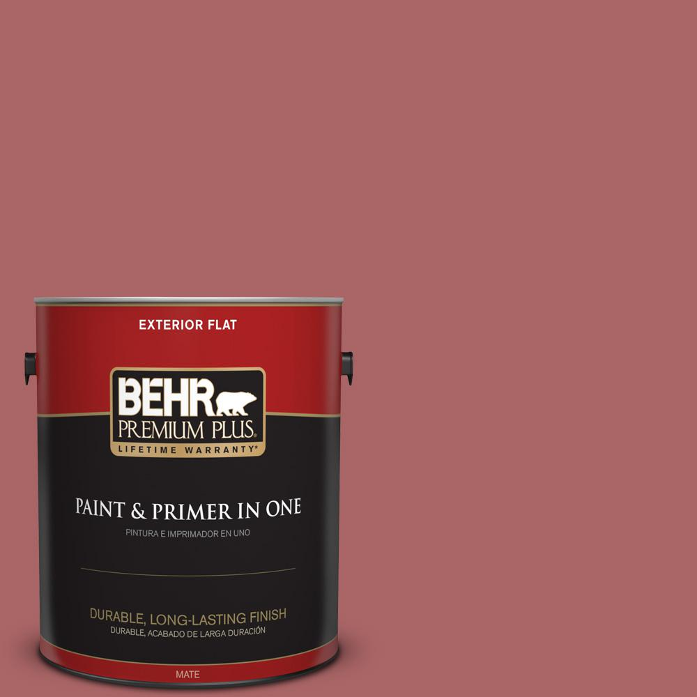 1 gal. #PPU1-06 Rose Marquee Flat Exterior Paint