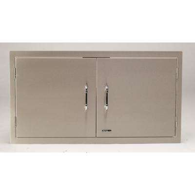 40.50 in. x 22 in. x 2 in. Built-in Double Storage Doors Double Walled Includes Paper Towel Holder