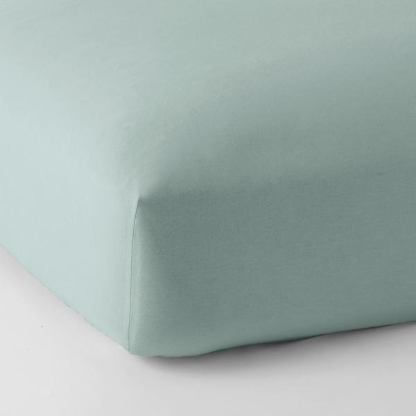The Company Store Legacy Velvet Flannel Cloud Blue Solid Deep Pocket California King Fitted Sheet Ea76 Ck Cloud Blue The Home Depot