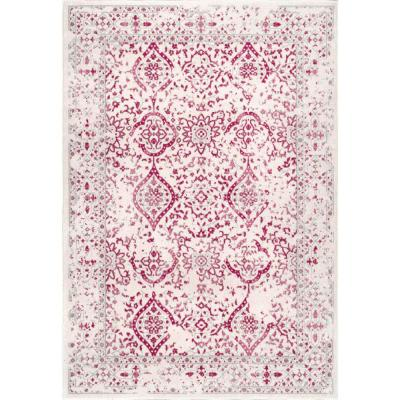 Odell Distressed Persian Pink 7 ft. x 9 ft. Area Rug