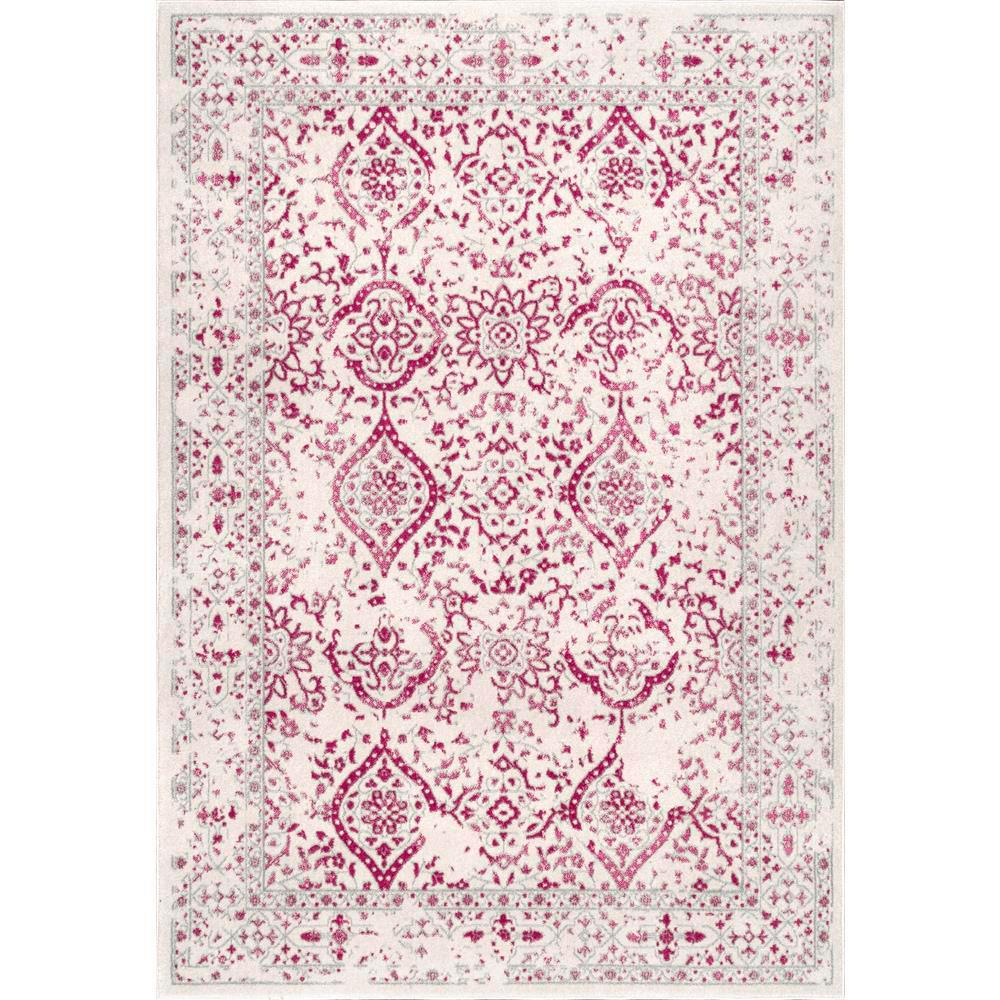 Nuloom Odell Oriental Persian Pink 8 Ft X 10 Ft Area Rug