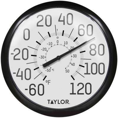 Big and Bold Dial Outdoor Analog Thermometer