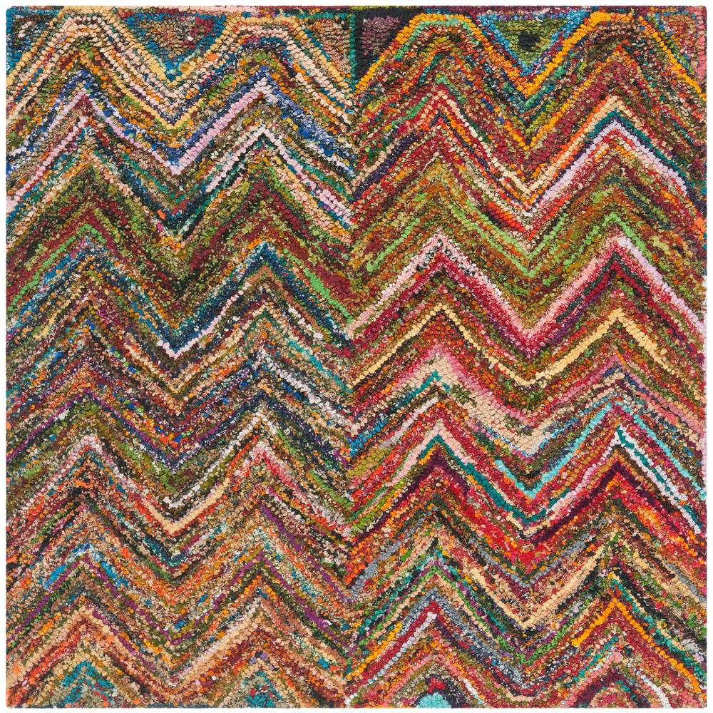 Safavieh Nantucket Red Blue Multi 8 Ft X 8 Ft Square