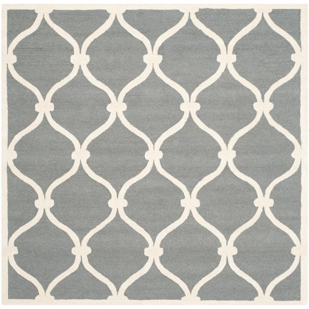 Cambridge Dark Gray/Ivory 8 ft. x 8 ft. Square Area Rug