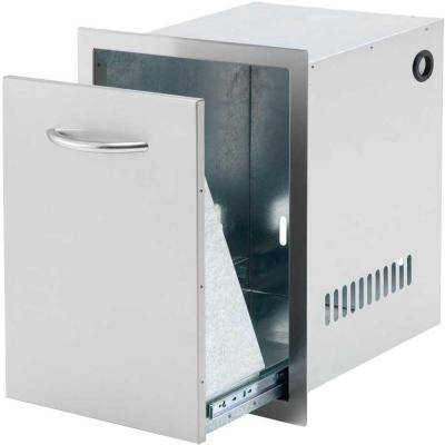 16.5 in. Wide Outdoor Kitchen Slide-Out Stainless Steel Propane Tank Drawer