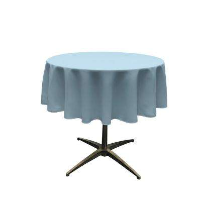 Polyester Poplin Light Blue 51 in. Round Tablecloth