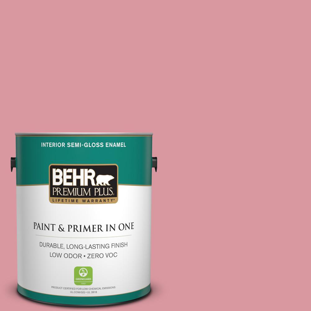 1-gal. #M150-4 Glow Pink Semi-Gloss Enamel Interior Paint
